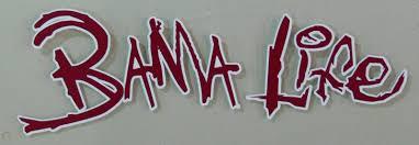 Alabama Crimson Tide Bama Life Window Auto Decal Sticker Burgandy And White 1737498372
