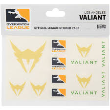 Los Angeles Valiant Overwatch League 10 Pack Team Car Stickers