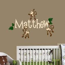 Amazon Com Monkey Wall Decal Personalized Baby Nursery Play Room Vinyl Decal Sticker Shower Gift Decor Home Kitchen