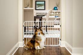 Expandable Pet Gate Durable Sturdy Cat Dog Protection Fence Medium With Pet Door