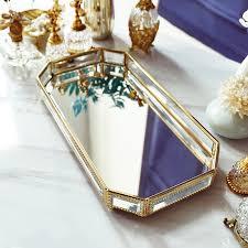 makeup tray glass jewelry storage