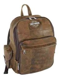 shield genuine leather large backpack
