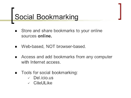 Using Social Bookmarking in Academic Research Adriana Reed J. Willard  Marriott Library April 30, ppt download