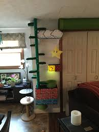 Super Mario Inspired Built In Cat Tree Or You Could Build Kids Room Shelves Cat Room Cat Tree Cat Bed