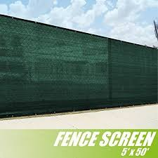4 39 X 50 39 3rd Gen Olive Dark Green Fence Privacy Screen Windscreen Fabric Mesh Tarp Aluminum Grommets Bardas