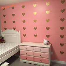 Metallic Gold Wall Stickers Heart Shaped Pattern Vinyl Wall Decals Nursery Art Decor Little Hearts Stickers Decorating Wall Stickers Decorating With Wall Decals From Hoob 14 79 Dhgate Com