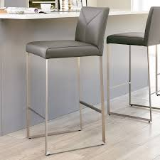 monti real leather bar stools with