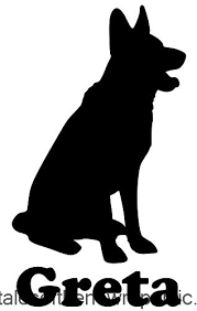Minglewood Trading German Shepherd Dog Vinyl Decal Sticker With Custom Personalized Name 6 X 3 5 Green Zyogxlg1q5d21660