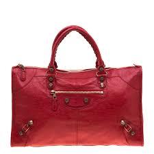 balenciaga blood leather rh work tote