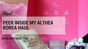 my althea korea haul first of many
