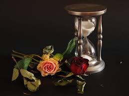 hd wallpaper roses sand clock time