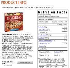 nutrition label for pizza images e993