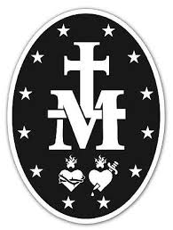 Madonna Of The Miraculous Medals Vinyl Auto Decal Miraculous Medal Miraculous Medal Tattoo Catholic Symbols