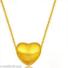 new 24k yellow gold pendant small
