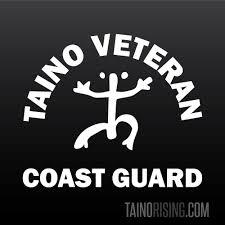 Taino Coast Guard Veteran Coqui Car Laptop Window Decal By Taino Rising Boriken Indio Boricua Puerto Rico Aboriginal Taino Pride Taino Rising