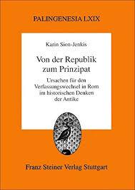 Amazon.fr - Von Der Republik Zum Principat - Sion-Jenkis, Karin ...