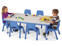 Kids Colors Adjustable Rectangular Tables At Lakeshore Learning