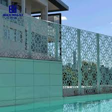 China Laser Cutting Exterior Aluminum Perforated Metal Screen Fence China Building Material And Fence Price