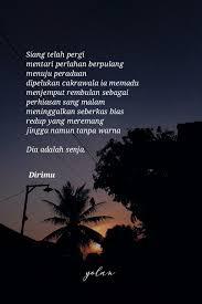 senja dan dirimu senja quotes poempm poems sajak motivasi