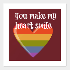 You Make My Heart Smile Heart Smiley Posters And Art Prints Teepublic