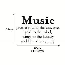 30 Off Music Gives A Soul To The Universe Art Apothegm Home Decal Wall Sticker Rosegal
