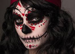 day of the dead makeup clipart