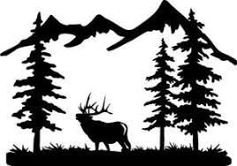 6 Point Bull Elk And Mountain Scene Truck Car Window Decal Bow Hunt Antler