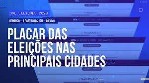 Eleições 2020: placar ao vivo da apuração pelo Brasil - YouTube