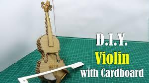 diy violin with cardboard you