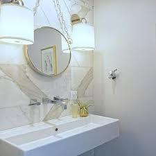 chain hanging bathroom mirror design ideas