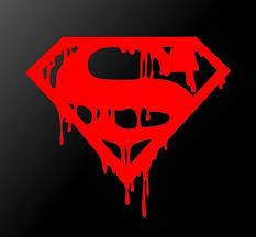 Dripping Melting Bloody Superman Symbol Vinyl Decal Car Window Superhe Kandy Vinyl Shop