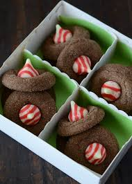 chocolate candy cane blossoms the