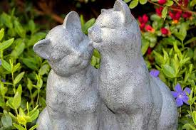 cat garden statues and lawn ornaments