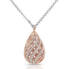 rose gold diamond puffy pear shaped