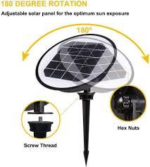 progreen led solar garden spot lights