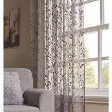 wilko grey fl slot top voile 145 w