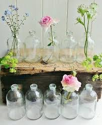 mini glass single stem bottle bud vases