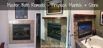 master bath remodel fireplace phase