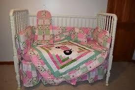 crib bedding set made w john deere