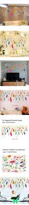 Kaimao Colorful Creative Dream Catcher Feathers Wall Stickers Art Independence