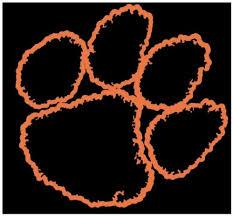 2pcs Clemson Tigers Paw Decal Sticker Wish