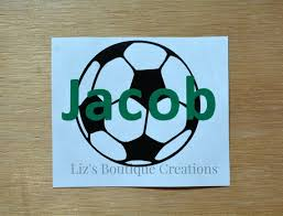 Soccer Decal Name Decal Vinyl Sticker Yeti Soccer Custom Etsy
