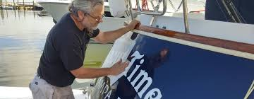 Custom Boat Lettering Installed Locally Names St Petersburg Clearwater Tampa Sarasota