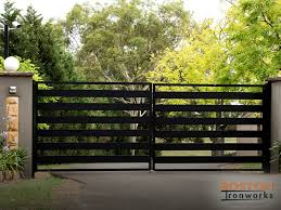 Different Types Of Driveway Gates Boston Ironworks Staircases Fences Fire Escapes
