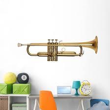 Golden Brass Trumpet Wall Decal Wallmonkeys Com