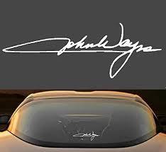 Amazon Com 9 John Wayne Signature Duke Vinyl Decal Sticker Handmade