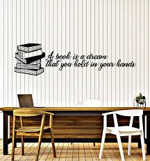 Vinyl Wall Decal Book Library Inspirational Quote Read Literature Stic Wallstickers4you