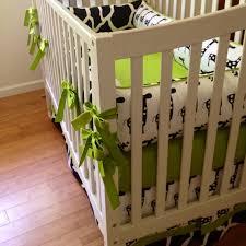 black and white crib bedding set