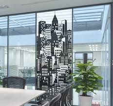 City Skyline Window Film Window Sticker Tenstickers