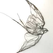 Just added this unique wire swallow wall... - Celia Smith - Wire ...